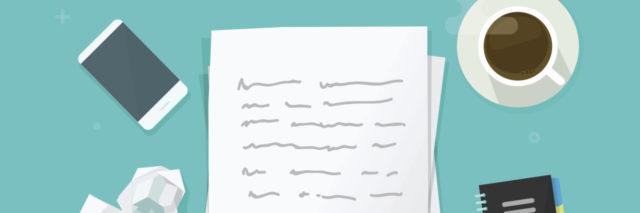 illustration of handwritten letter