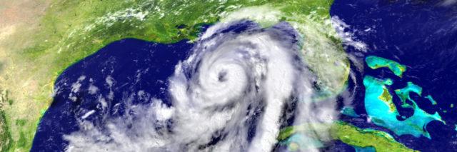 hurricane in the gulf coast