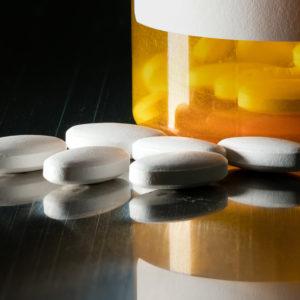 medication in prescription bottle