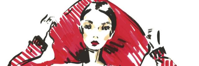 fashion sketch drawing girl. model beautiful young woman.