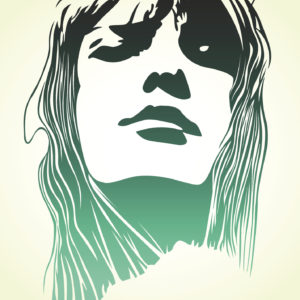 woman pop art portrait