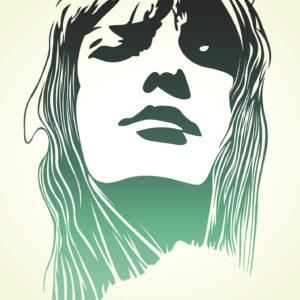 woman pop art portrait