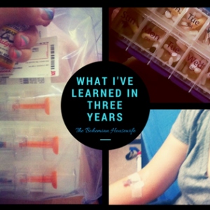 "A photo collage with text that reads, ""What I've Learned in three years."""