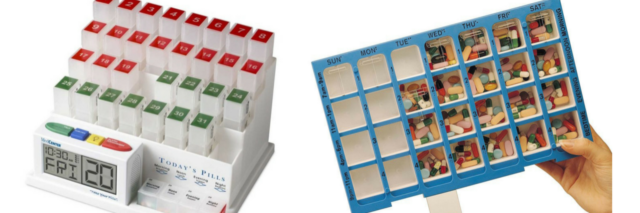 medcenter monthly pill organizer and ezy dose practidose pill organizer