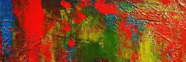 """A red art piece titled, """"Ancient Phoenix Rising."""""""