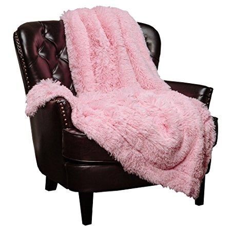 pink fuzzy blanket