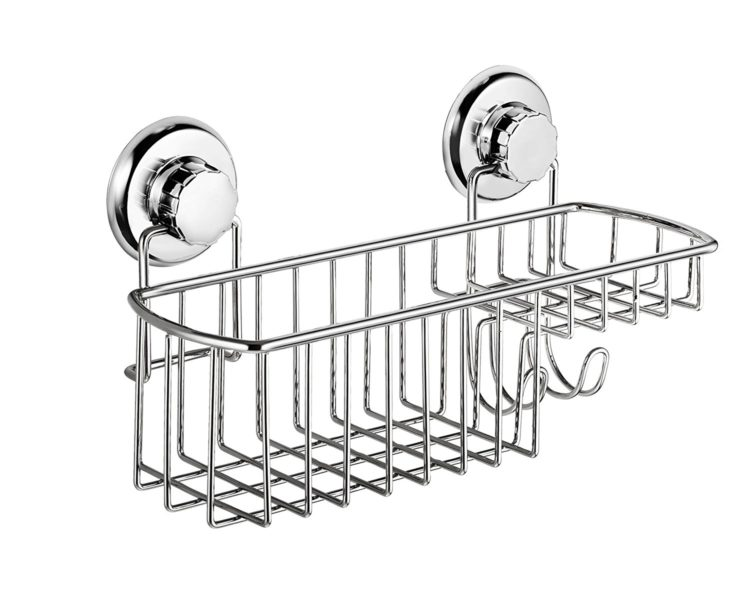 shower caddy with wall suction