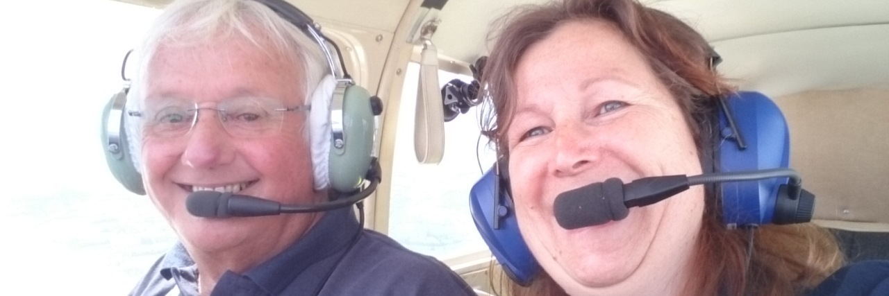 Karen Jane in the pilot's seat.