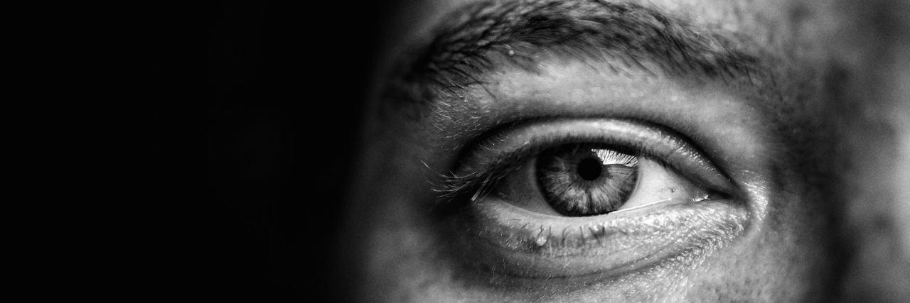 man eye