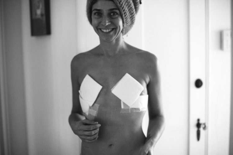 Samantha Paige post mastectomy photo
