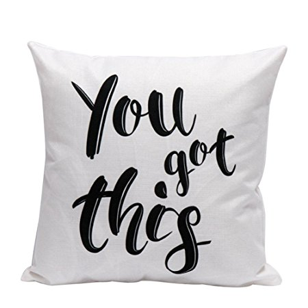 pillow that says 'you got this'