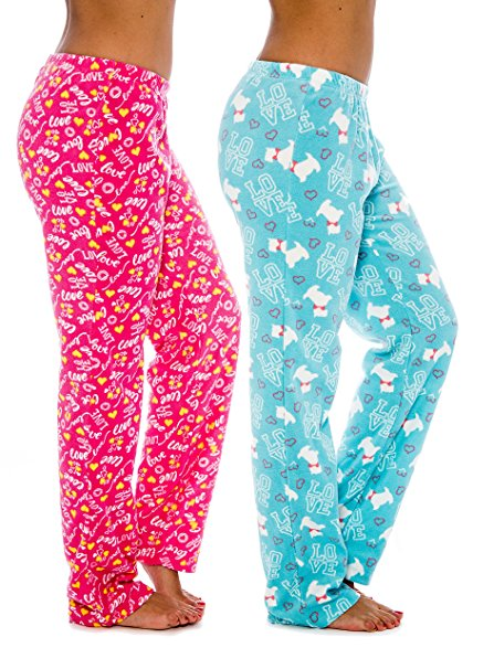 pink and blue pajama bottoms