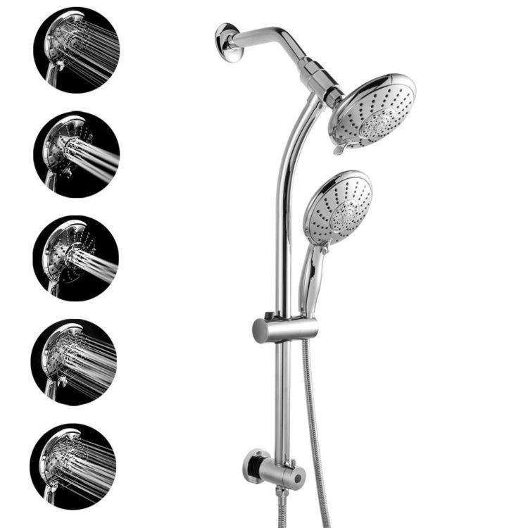 sliding adjustable and detachable shower head