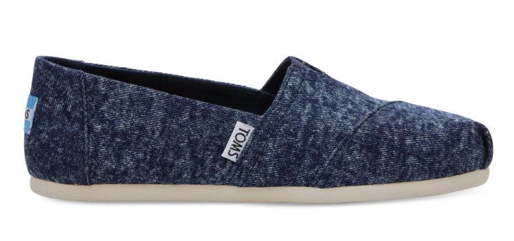 denim-washed toms shoe