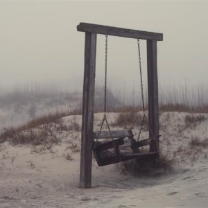 bench swing on the beach