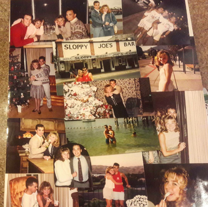 Collage of photos of Bob and Dana