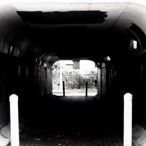 black and white photo of a tunnel by the author