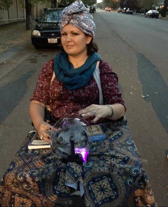 woman dressed as a fortune teller