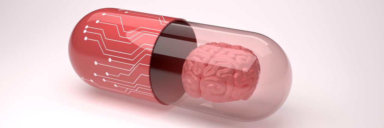 Futuristic brain pill.