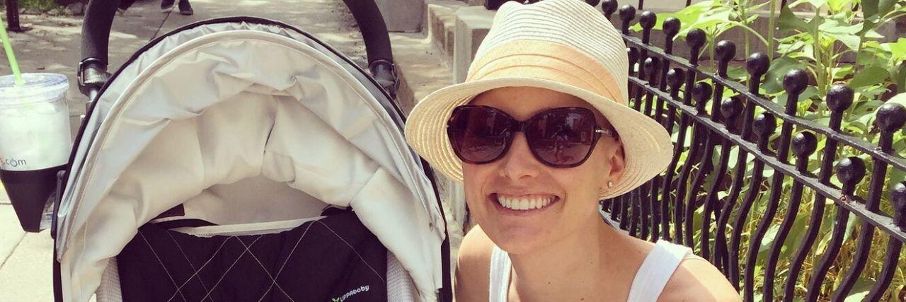 Jessica Sliwerski and Poppy in stroller