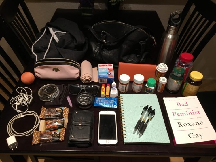 contents of a woman's purse