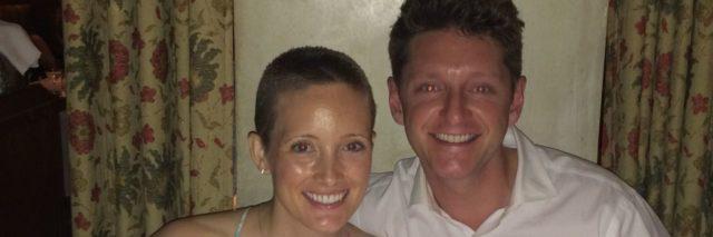 Jessica Sliwerski and Kyle at dinner