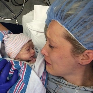 Jessica Sliwerski and Penelope just born