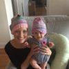 Jessica Sliwerski and Poppy in beanies