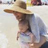 Jessica Sliwerski beach photo with Poppy