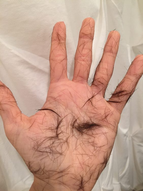 Jessica Sliwerski hair on hands