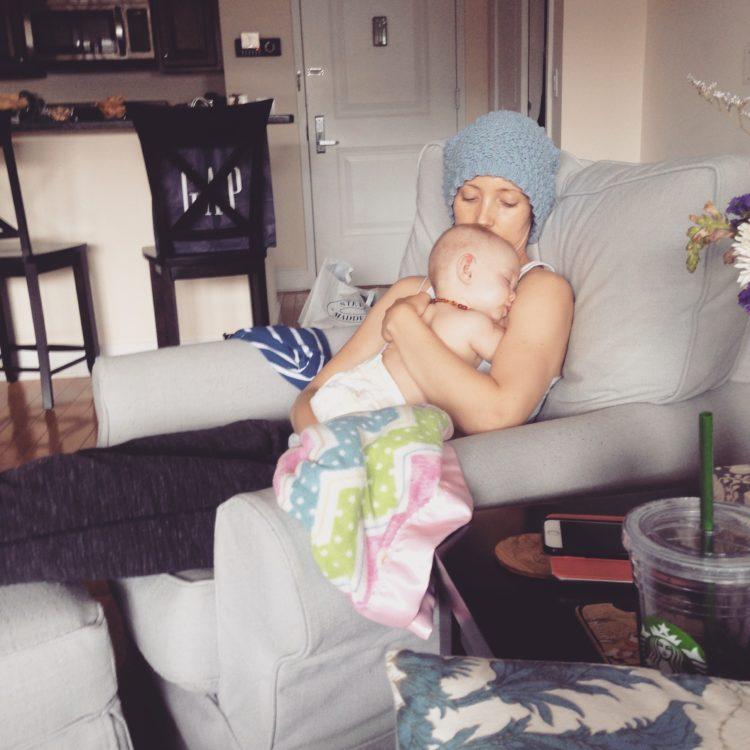 Jessica Sliwerski snuggling Penelope