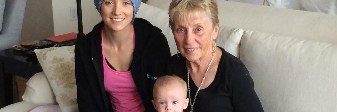 Jessica Sliwerski with grandma and Penelope