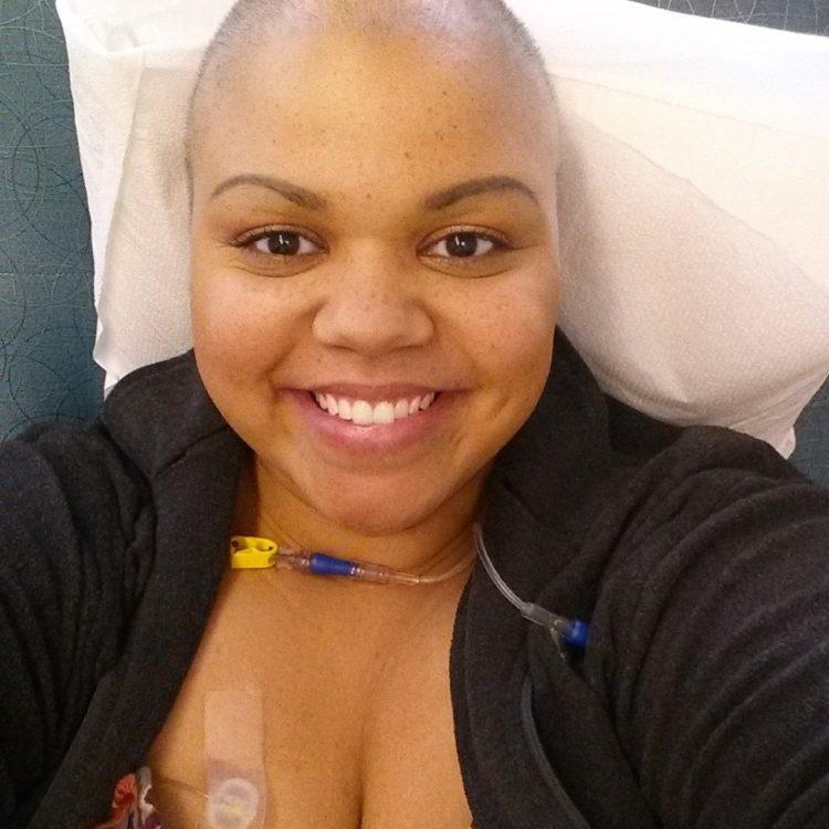 Charity Bryan receiving chemo