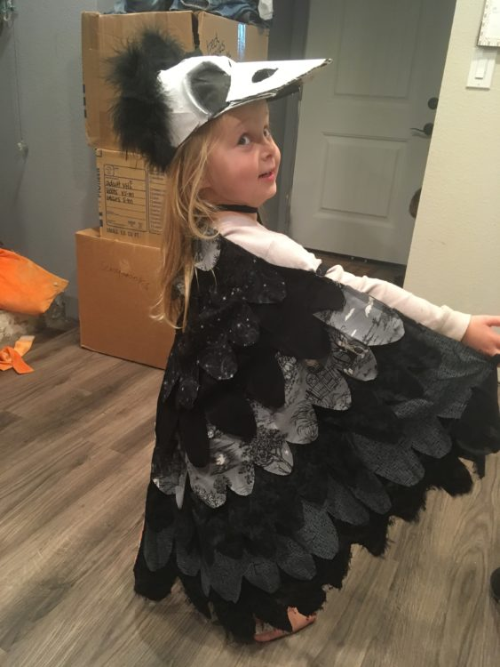 Scarlette Tipton raven costume 3