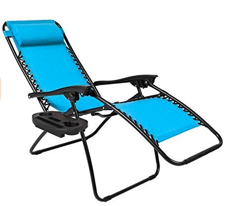 blue zero gravity lounge chair