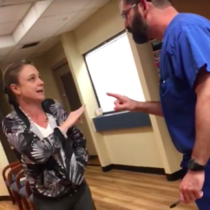 jessica stipe arguing with a doctor