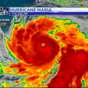 weather tracker of hurricane maria