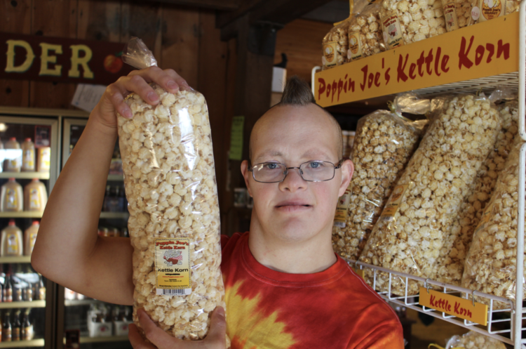 Joe with his kettle korn