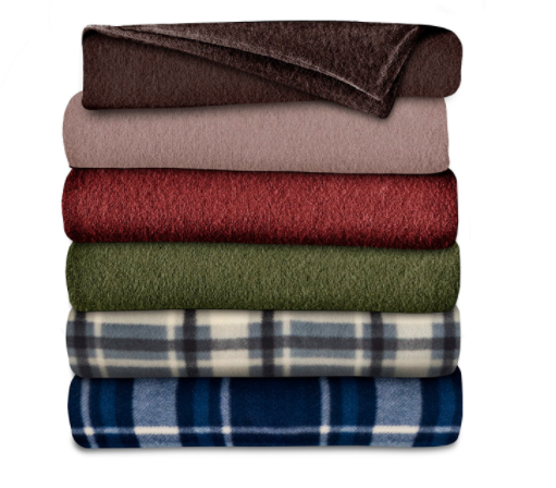sunbean heated throw blankets in multiple colors