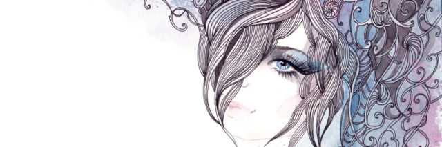 beautiful graphic hair (Cbm painting)