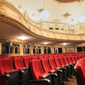 Old beautiful theatre -- interior view.