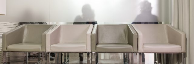 Waiting room with armchairs