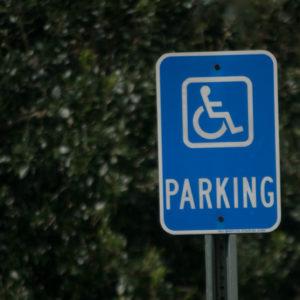 Disabled parking sign. Handicapped parking.