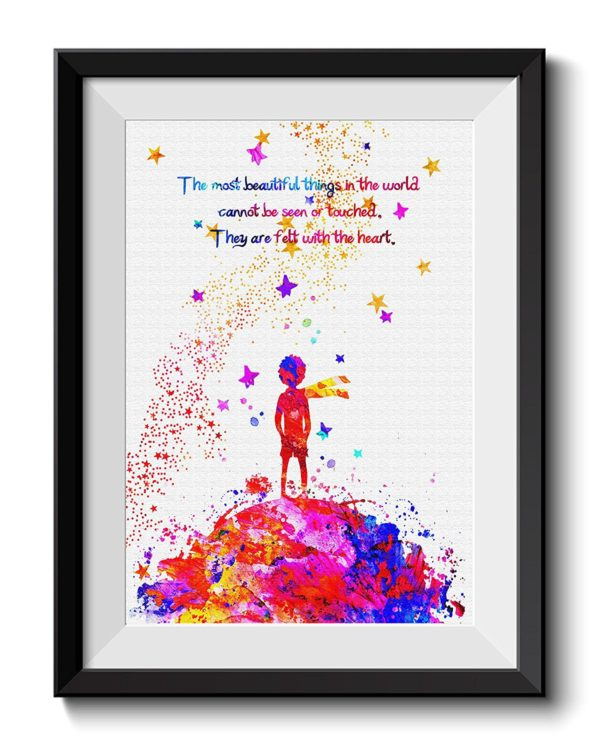 wall art of the little prince
