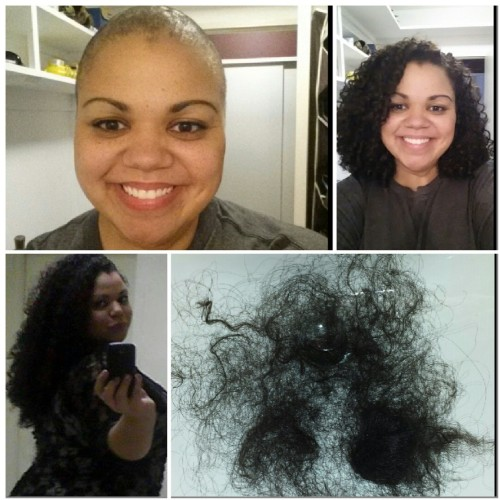 Charity Bryan before and after hair cutting