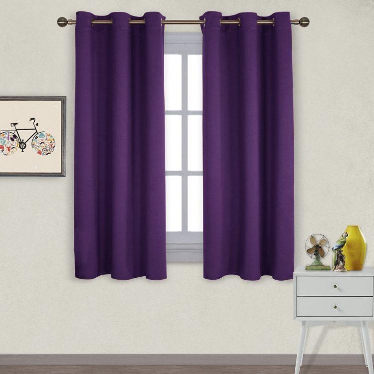 purple black-out curtains