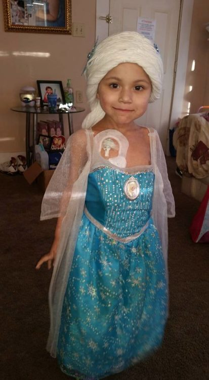 cute princess elsa magic wig