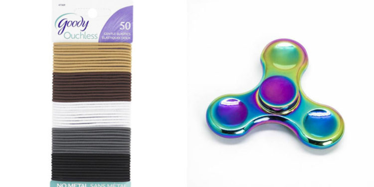 elastic bands and fidget spinner