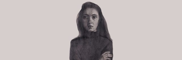 sketch of a young girl