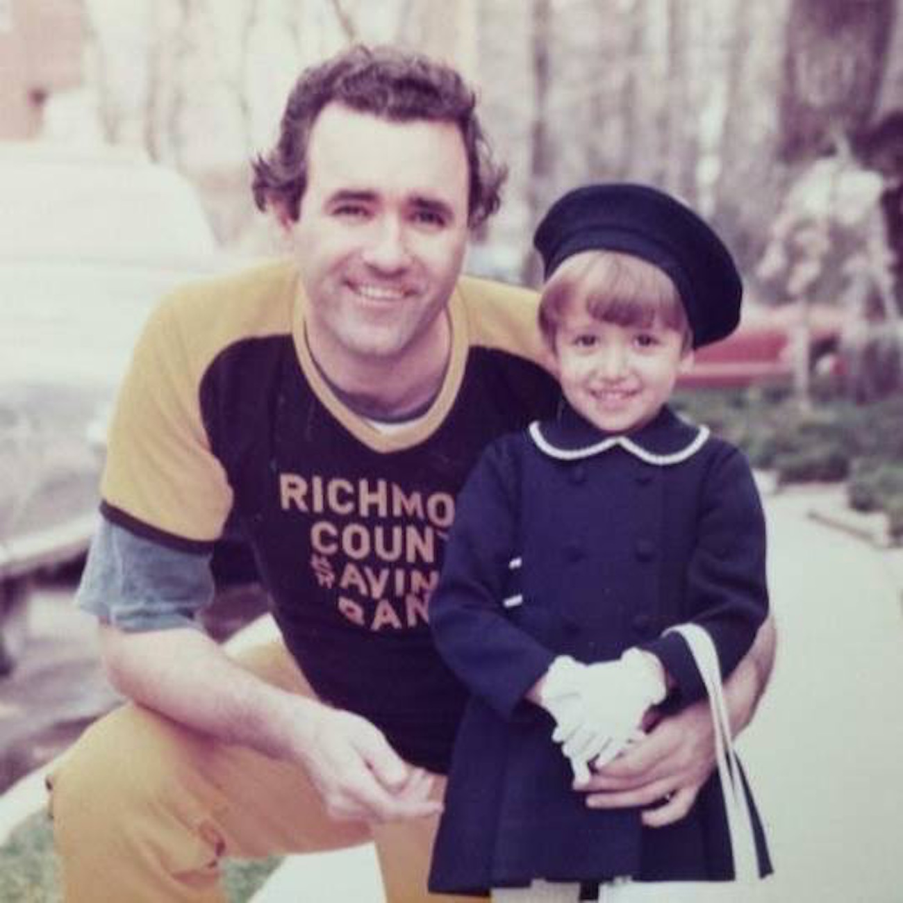 Lisa and her father, when Lisa was 5 years old